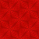 Regelmäßiges verwickeltes Quadratmuster in den roten Schatten Lizenzfreie Stockfotografie