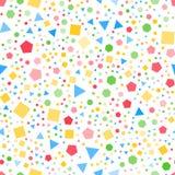 Regelmatig geometrisch vormen naadloos patroon wit BG vector illustratie