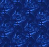 Regelmatig ingewikkeld azuurblauw en donkerblauw spiralenpatroon stock illustratie