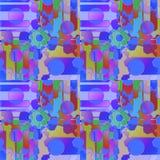 Regelmatig ingewikkeld patroon met multicolored toestelwheals en cirkels Stock Foto