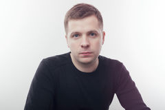 Regelmatig portret van een jonge witte mens royalty-vrije stock fotografie