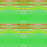 Regelmatig strepen en ellipsen horizontaal vaag patroon heldergroen geel rozerood viooltje Stock Foto