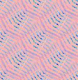 Regelmatig zigzagpatroon met golvende lijnen roze violette lichtblauwe purple Royalty-vrije Stock Foto's