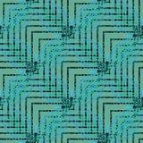 Regelmatige gevoelige groene lichtblauwe turkooise grijs en de zwarte van het zigzagpatroon diagonaal Royalty-vrije Stock Afbeeldingen