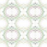Regelmatige gevoelige witte beige violetnally vaag groen van het diamantpatroon Royalty-vrije Stock Fotografie