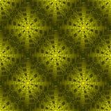 Regelmatige ingewikkelde de olijf groene glanzend van het vierkantenpatroon Stock Afbeeldingen