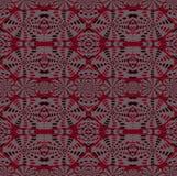 Regelmatige ingewikkelde patroon rode roze grijze zwarte Royalty-vrije Stock Fotografie