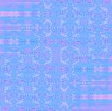 Regelmatige ingewikkelde verplaatst ornamenten lichtblauwe roze violette purple Royalty-vrije Stock Afbeelding
