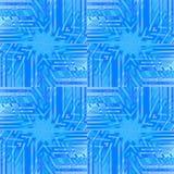 Regelmatige ingewikkelde vierkanten en sterrenpatroon blauwe purple Stock Foto's