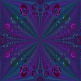 Regelmatige purpere gecentreerd blauwgroen van het spiralenpatroon Stock Afbeelding