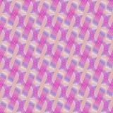 Regelmatige strepen en golvend lijnen diagonaal violet purper wit roze Stock Afbeelding