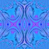 Regelmatige symmetrische ornament blauwe violette purple Royalty-vrije Illustratie