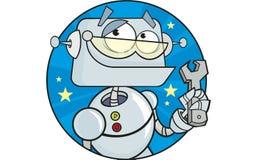 Regeln Sie ihn Roboter Lizenzfreies Stockfoto