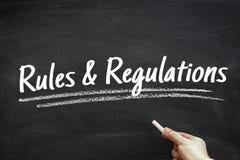 Regels en verordeningen royalty-vrije stock afbeeldingen