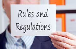 Regels en verordeningen stock foto's
