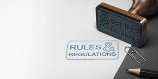 Regels en Verordeningen Achtergrond Stock Afbeelding
