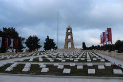 Regemente 57 av kyrkogårdar och monumentet Arkivbilder