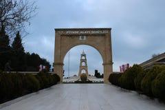 Regemente 57 av kyrkogårdar och monumentet Arkivfoton