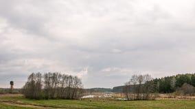 Regen über dem See Stockbilder