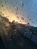 Regen auf dem Glas Lizenzfreies Stockfoto
