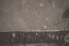 Regen auf den Wänden schauen schön, der nach dem Rückstoß ist Stockfotos