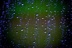 Regen auf meinem Fenster Stockbilder