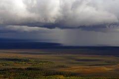 Regen boven een taiga Royalty-vrije Stock Foto