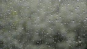 Regen buiten het venster stock video