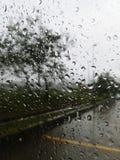 Regen buiten mijn venster Royalty-vrije Stock Afbeeldingen