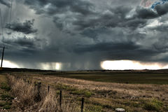 Regen in de afstand Stock Foto