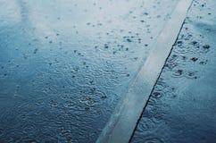 Regen, de herfstdag Stock Fotografie