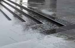 Regen in de stad Royalty-vrije Stock Fotografie
