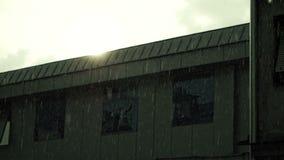 Regen in der Stadt stock footage