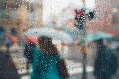 Regen in der Stadt Stockbild
