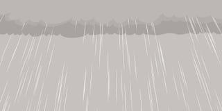 Regen, der vom Wolken-Hintergrund fällt Stockbilder
