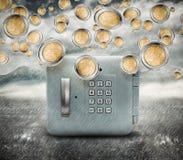 Regen des Geldes stockfotografie