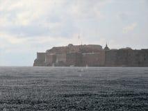 Regen in Dubrovnik-Kroatien stockbilder