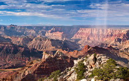 Regen-Dusche im Grand Canyon Stockfotos