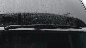 Regen en auto stock video