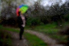 Regen en Mensen Stock Fotografie