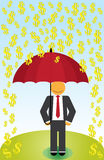 Regen-Geld Lizenzfreie Stockfotos