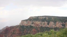 Regen in Grand Canyon stock video