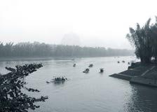 Regen-Guilin-Landschaft Lizenzfreies Stockbild