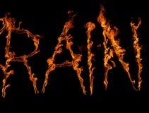 Regen im Feuer Stockfoto