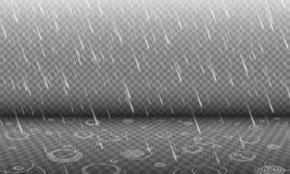 Regen mit Effekt der Wasserkräuselungen 3D lokalisiert