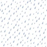Regen, naadloze achtergrond stock illustratie