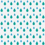 Regen Nahtloses vektormuster lizenzfreies stockbild