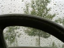 Regen op autowindscherm 22 stock foto