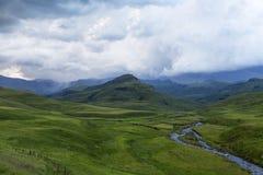 Regen op de berg royalty-vrije stock fotografie