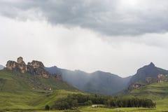Regen op de berg stock fotografie
